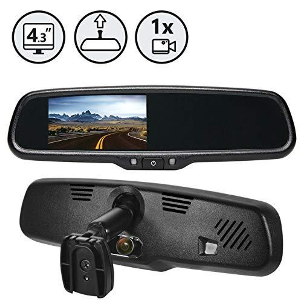 G-Series Rear View Replacement Mirror Monitor with Built-in Hidden Dash Camera
