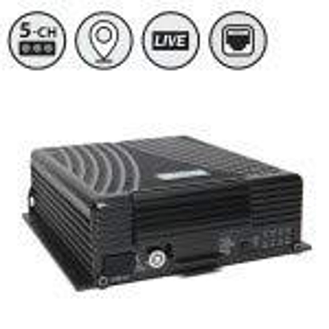 MobileMule™ 5530 | 5 Channel Mobile DVR with GPS and Live Video Remote Viewing (WiFi) (HDD), Western Digital Hard Drive