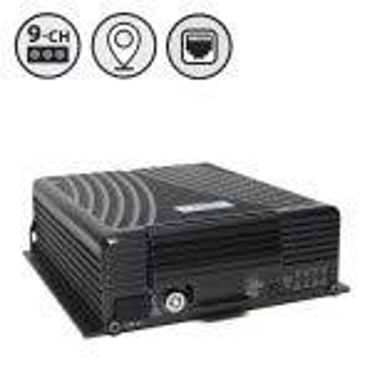 "MobileMule™ 8150 | 9 Channel Mobile DVR with Built-in GPS, 9"" RCA Display, Western Digital Hard Drive"