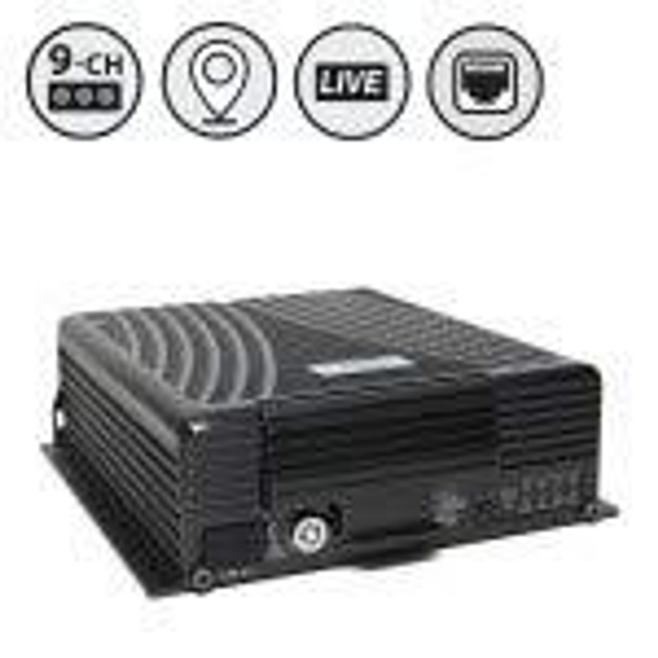 MobileMule™ 8170 | 9 Channel Mobile DVR with GPS and Live Video Remote Viewing (WiFi + 4G), Western Digital Hard Drive