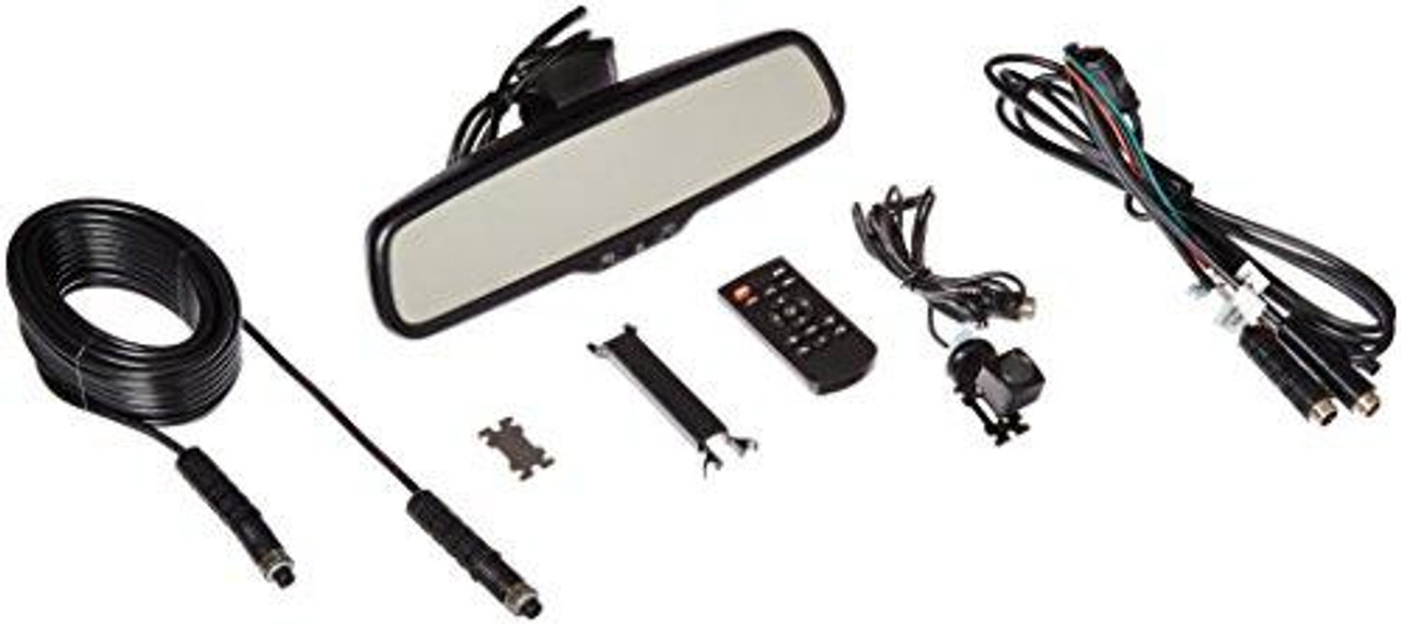 Rear View Safety RVS-776718-D OEM G-Series Black Rear View Camera System with Auto Dimming