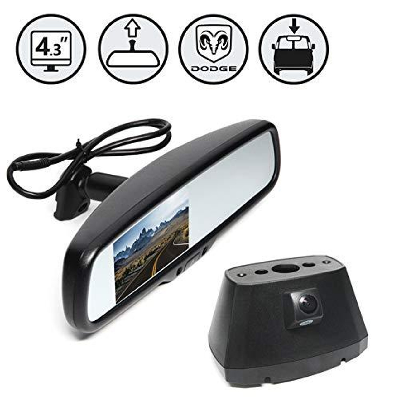 Rear View Safety RVS-918718 Rear View Camera System for Dodge Promaster Vans