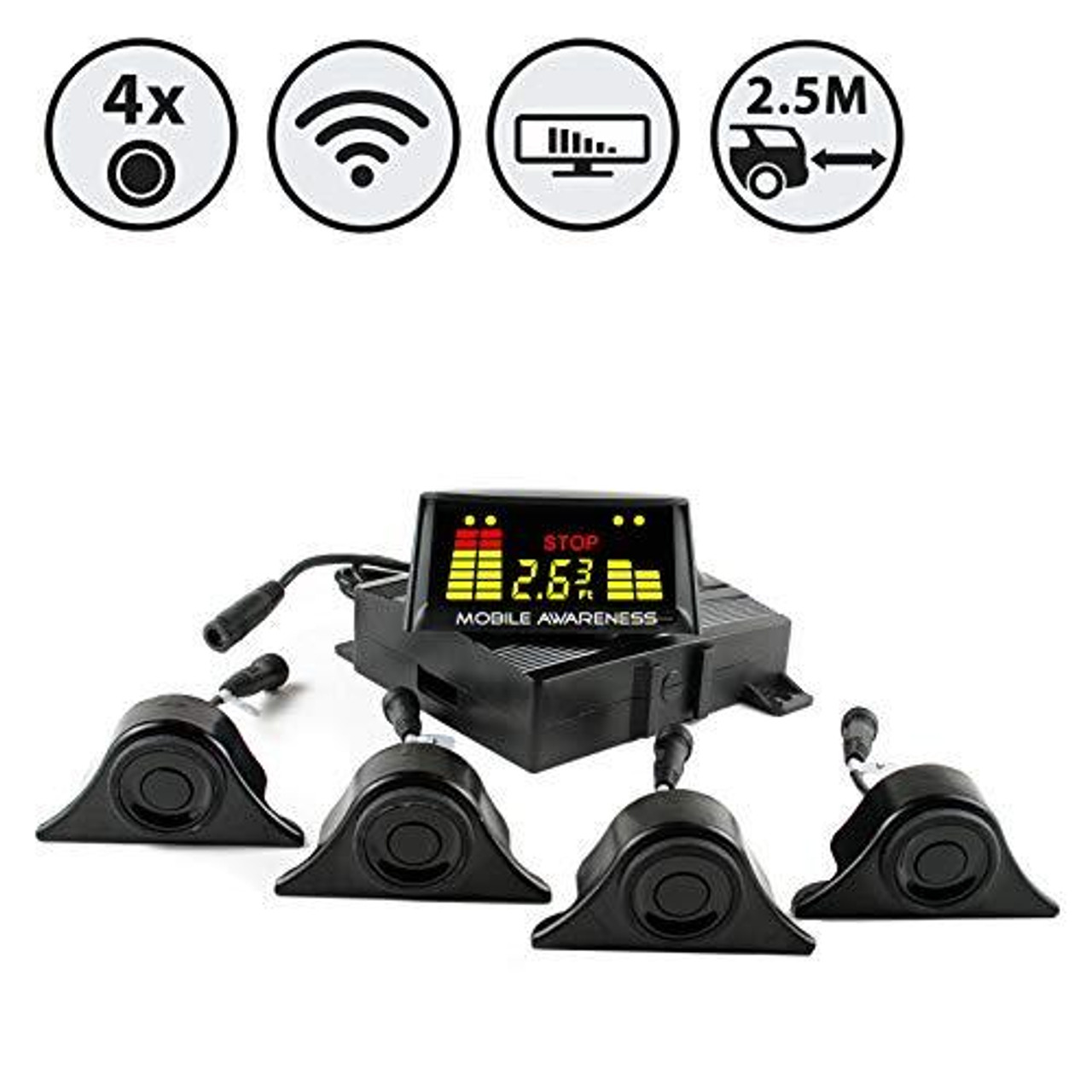 Rear View Safety SenseStat Wireless Obstacle Detection System - Perfect for Trucks, Trailers and Fifth Wheels (Standar Mount)