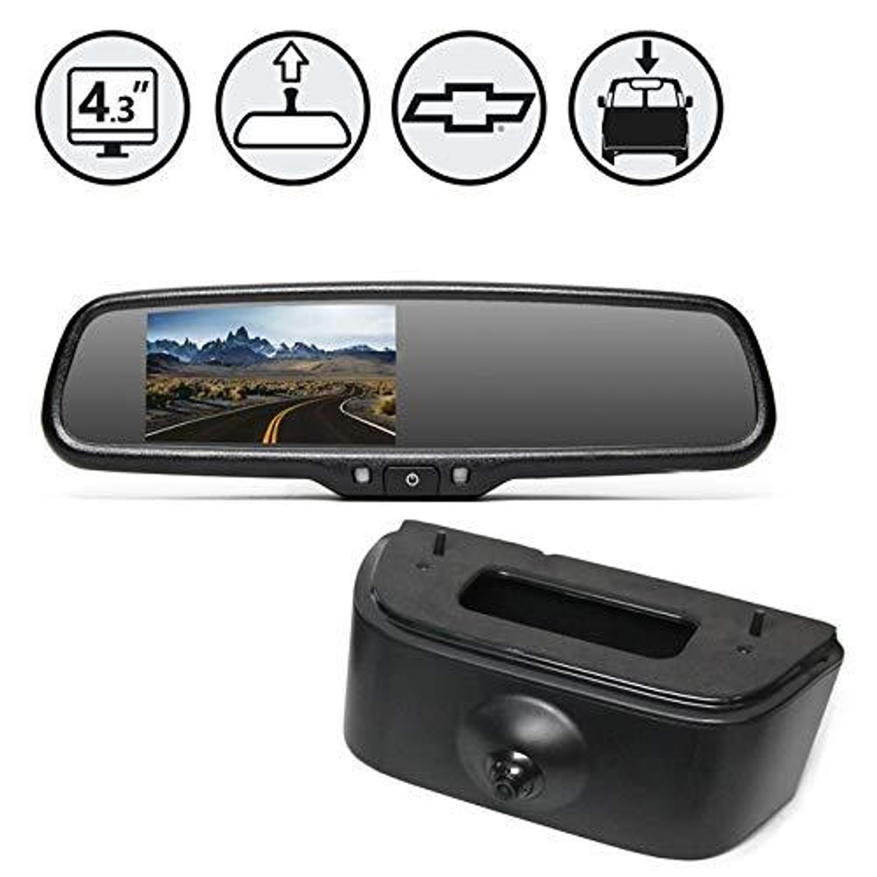 Replacement Mirror Monitor, Nissan NV Camera, 33ft Cable