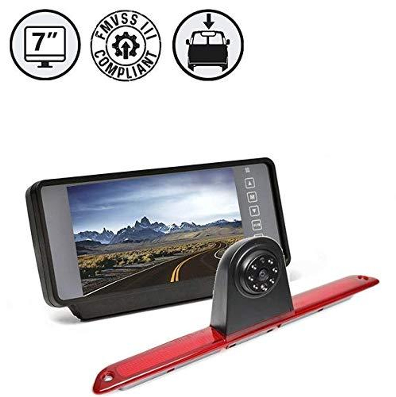 "Sprinter Backup Camera, 7"" Clip-on Mirror Monitor, 33ft Cable"