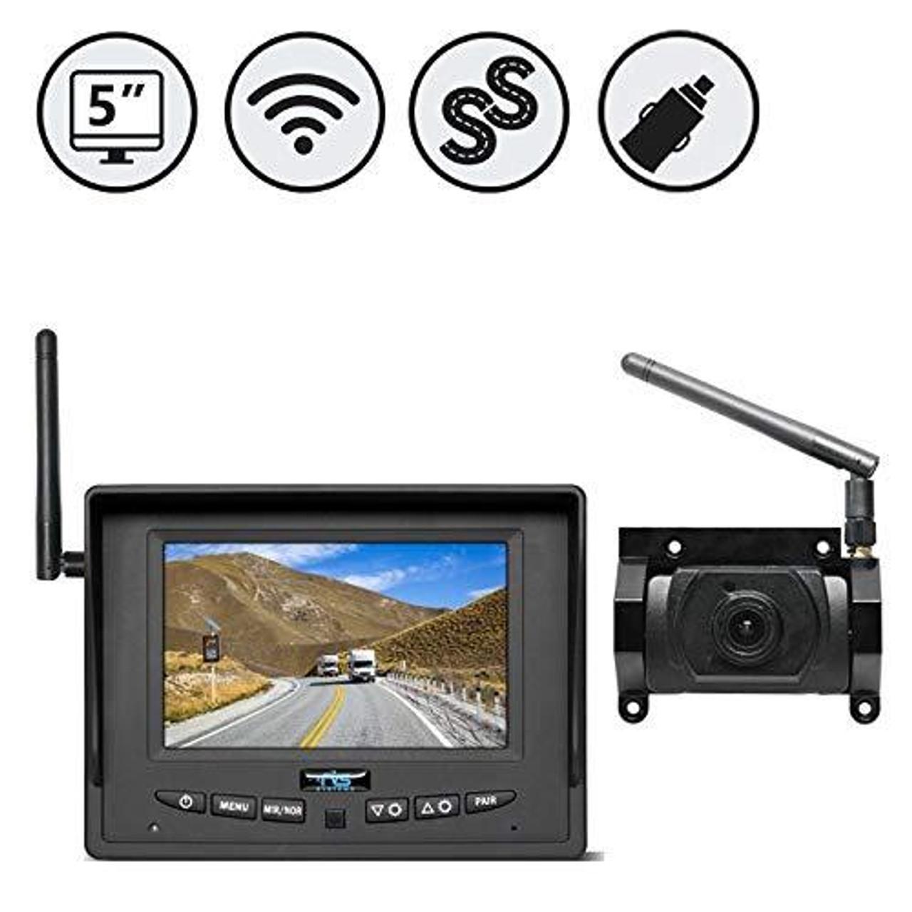 "Wireless 5"" Display, Wireless Camera (1 Ch.) for SimpleSight™ Prewire Kit"