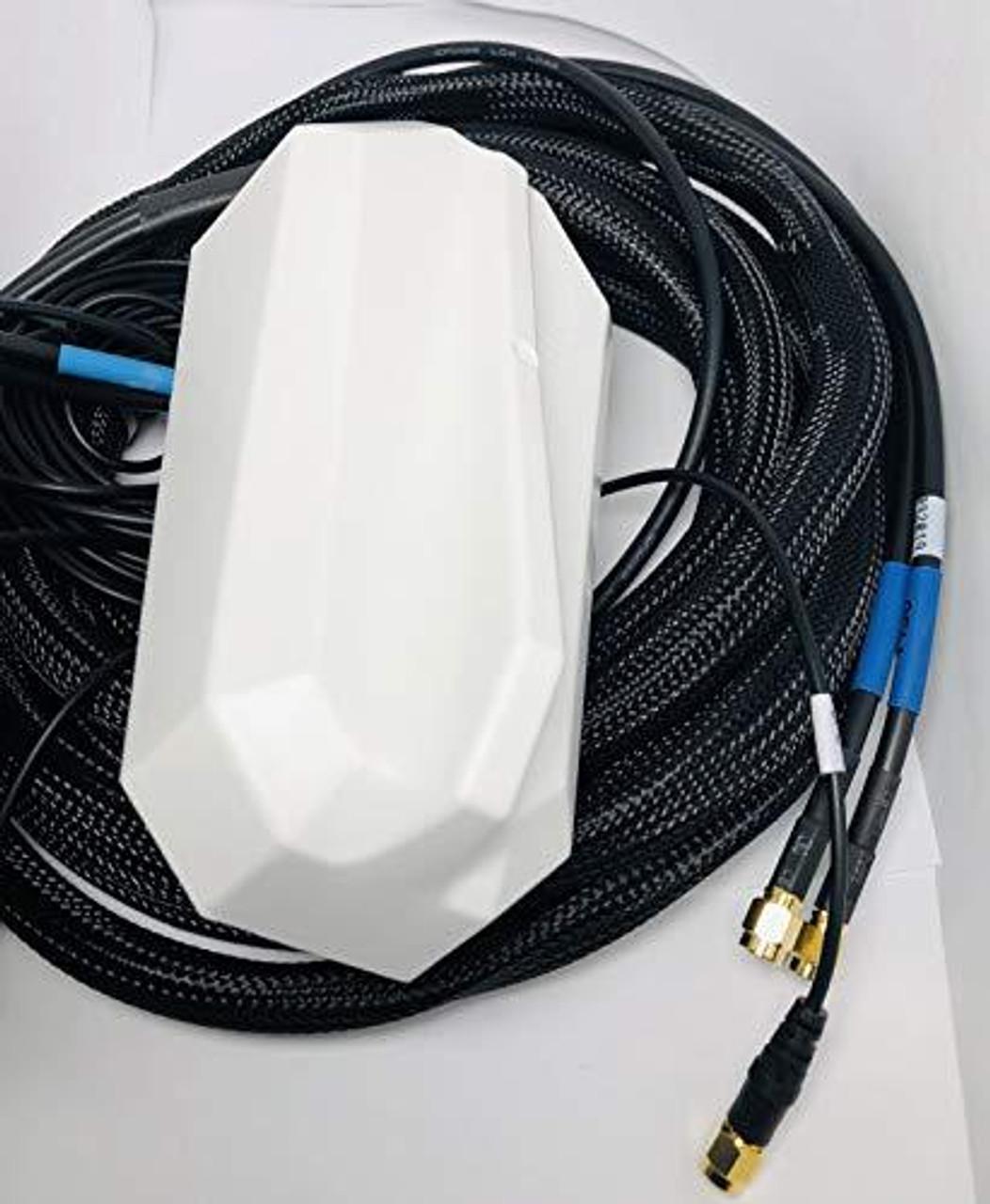 Antenne Double LTE GPS adhésive Blanche