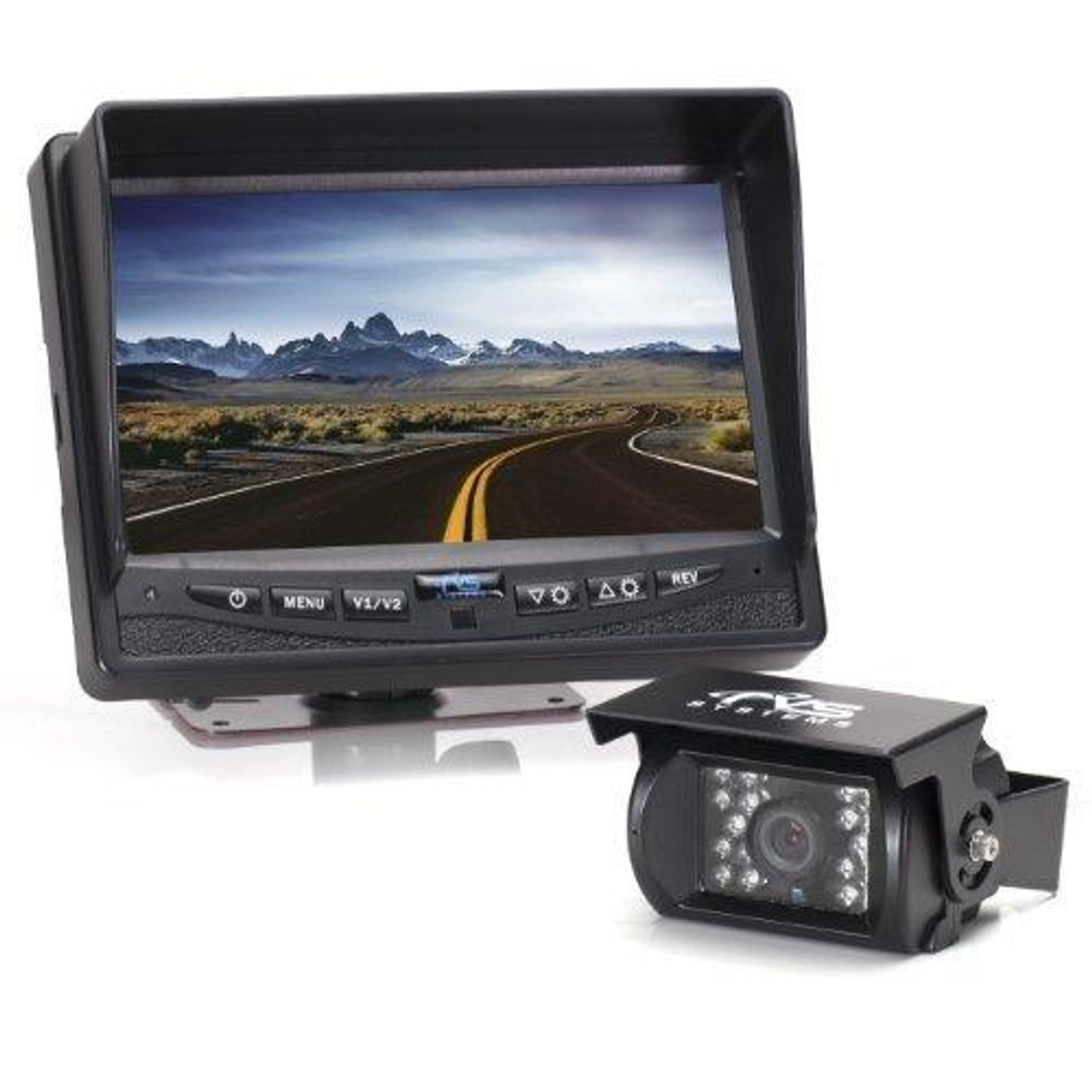Rear View Safety RVS-770613 Video Camera with 7.0-Inch LCD (Black) - WIRED by Rear View Safety