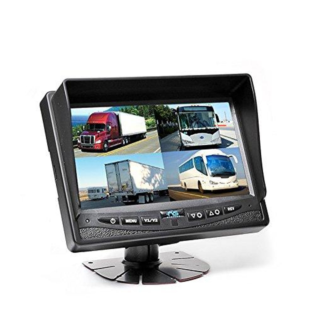 "7"" LED Digital Quad View Color Monitor (12V)(RVS-6137Q)"