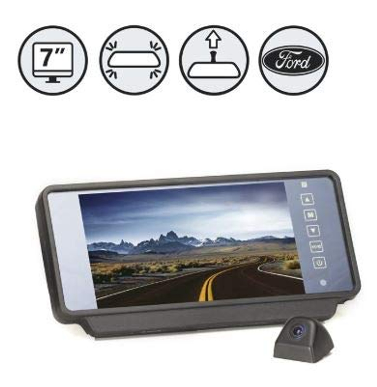 Backup Camera System with MV1 Camera (RVS-MV1619-NM)