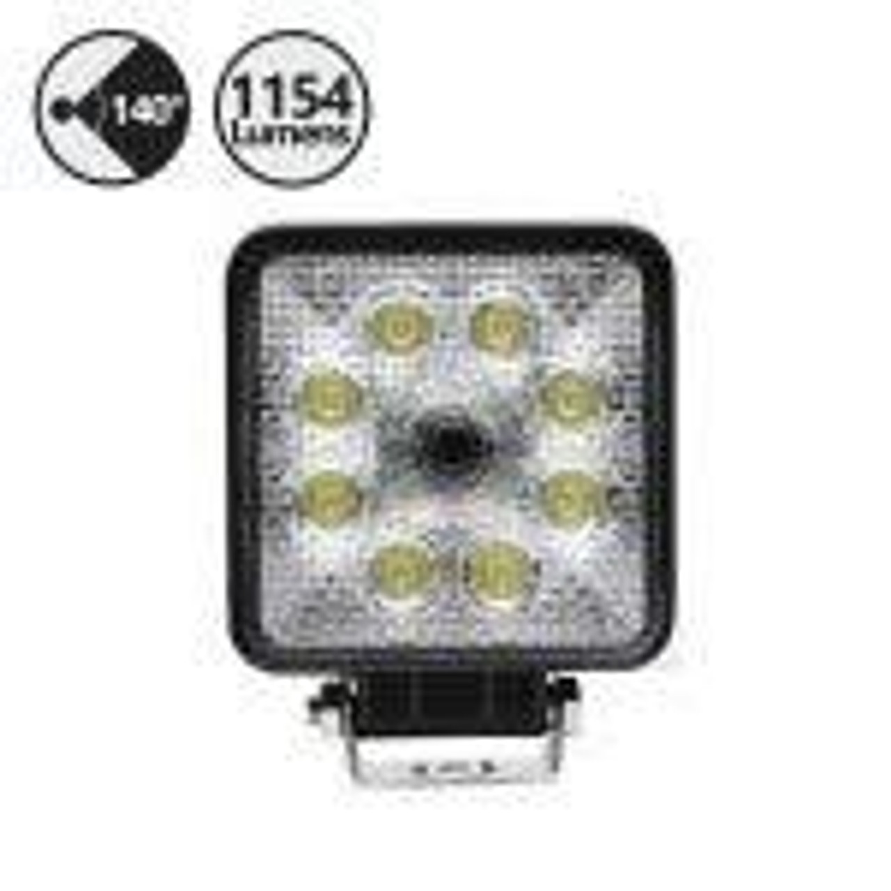 Vehicle Flood Light with Backup Camera (Square),66' Cable, RCA Adapter