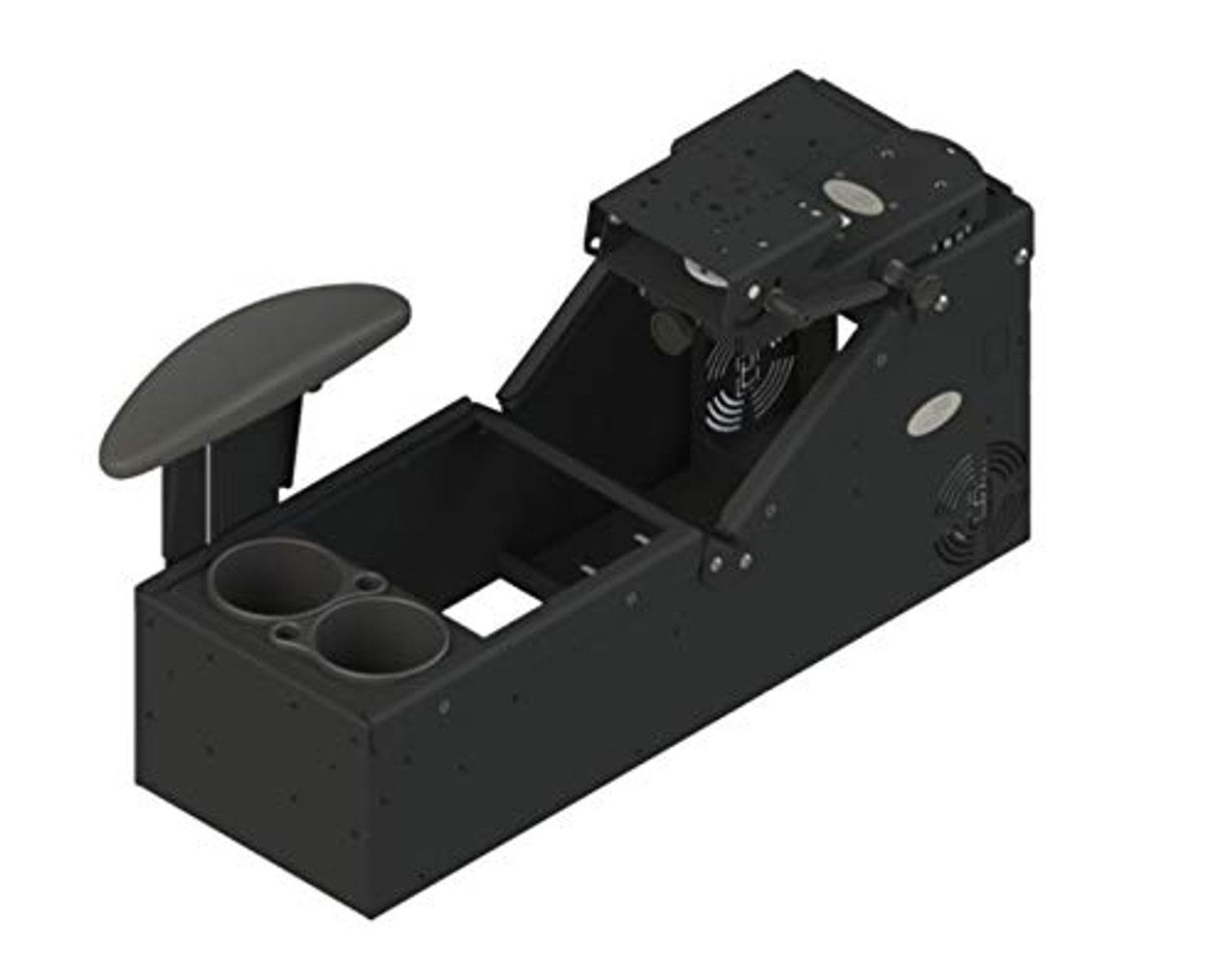 KIT - Universal Sloped Front Console with Cup Holder; Includes 3 faceplates and 3 Filler Panels. (7170-0579-XX) | 0505X0YQN38