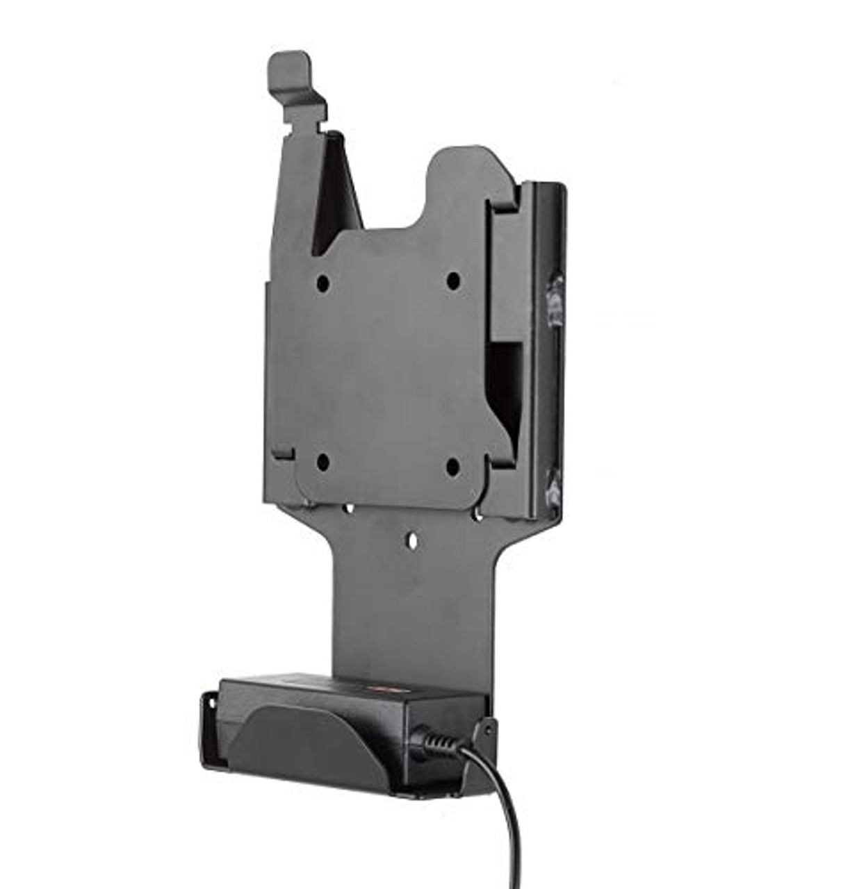 Quick Release Wall Mount for GETAC F110. Two-Piece Quick Release Adapter Plate with Power Supply Holder. (7160-0879) | 0414XL34AD0