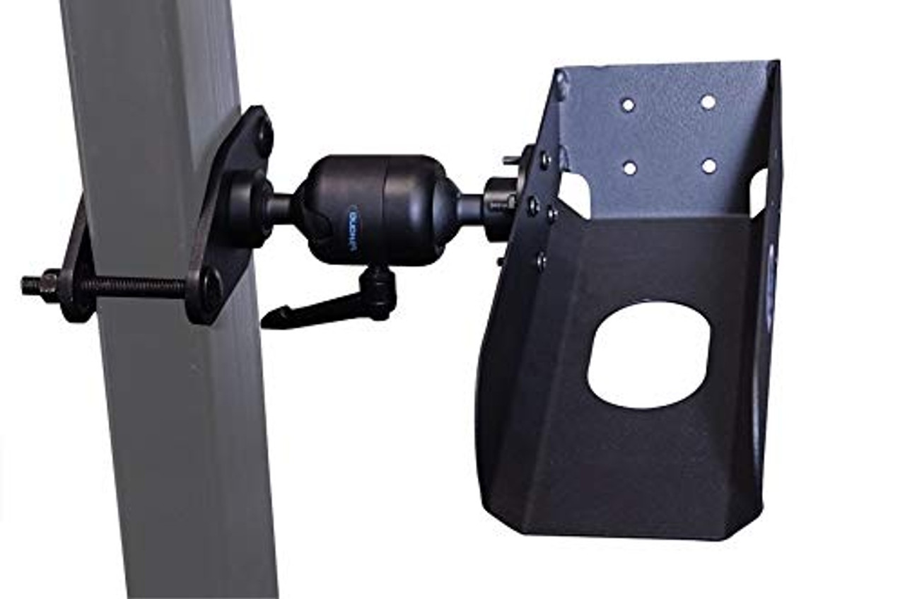 "Kit - Pistol Grip Scanner Mount with 4"" Diamond Plate (7170-0764) 