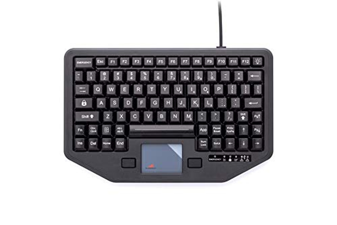 Full Travel Keyboard with Attachment Versatility. 12 Function Keys, 88-Key Functionality, Integrated Backlighting, Integrated Touchpad, Mobile Mounting Holes, One-Touch Emergency Key. (7300-0084) | 0414XMFUFUM