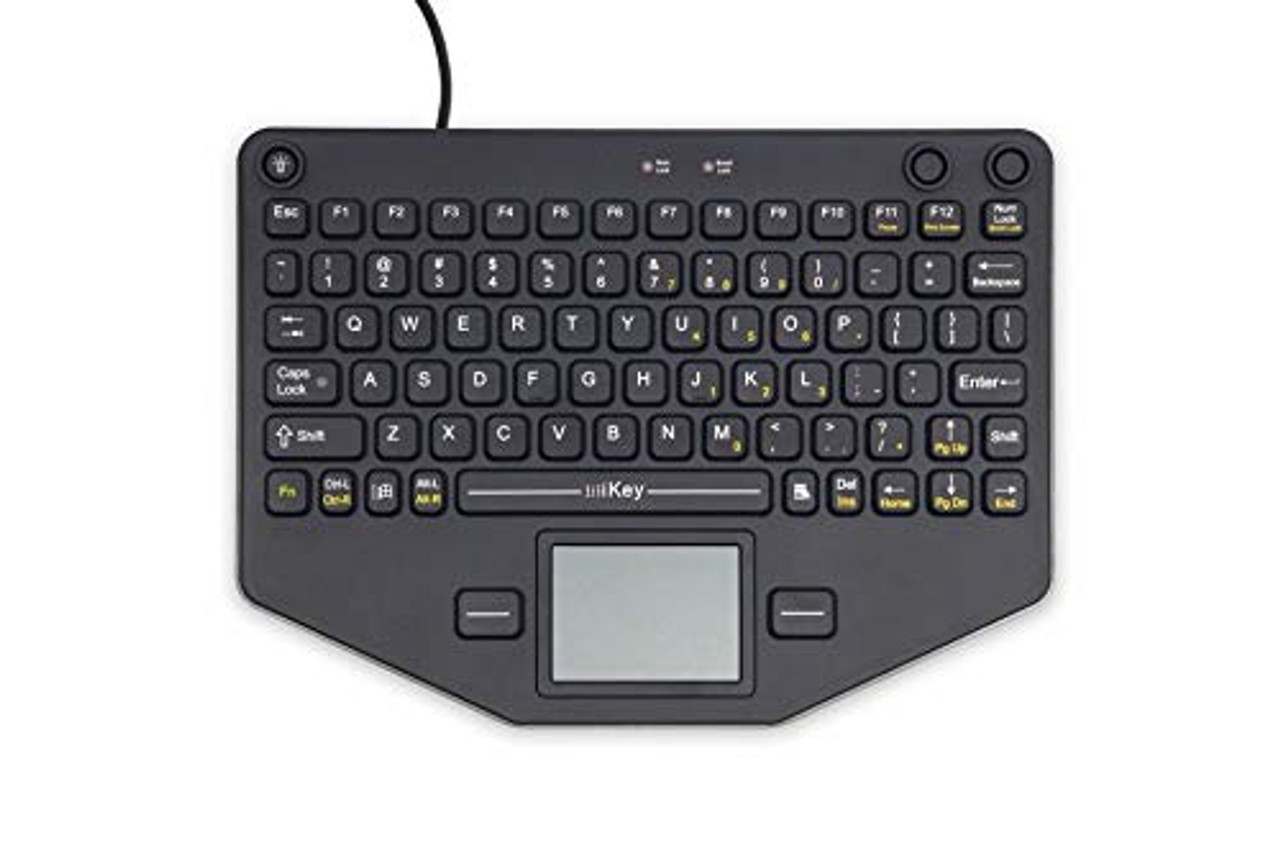 iKey Keyboard SL-80-TP, a compact, lightweight, and fully-rugged mobile keyboard. This keyboard is fully-sealed and designed to meet NEMA 4X specifications, meaning it is resistant to dirt, dust, water, ice and corrosives. (7300-0332) | 0414XLUVX6P