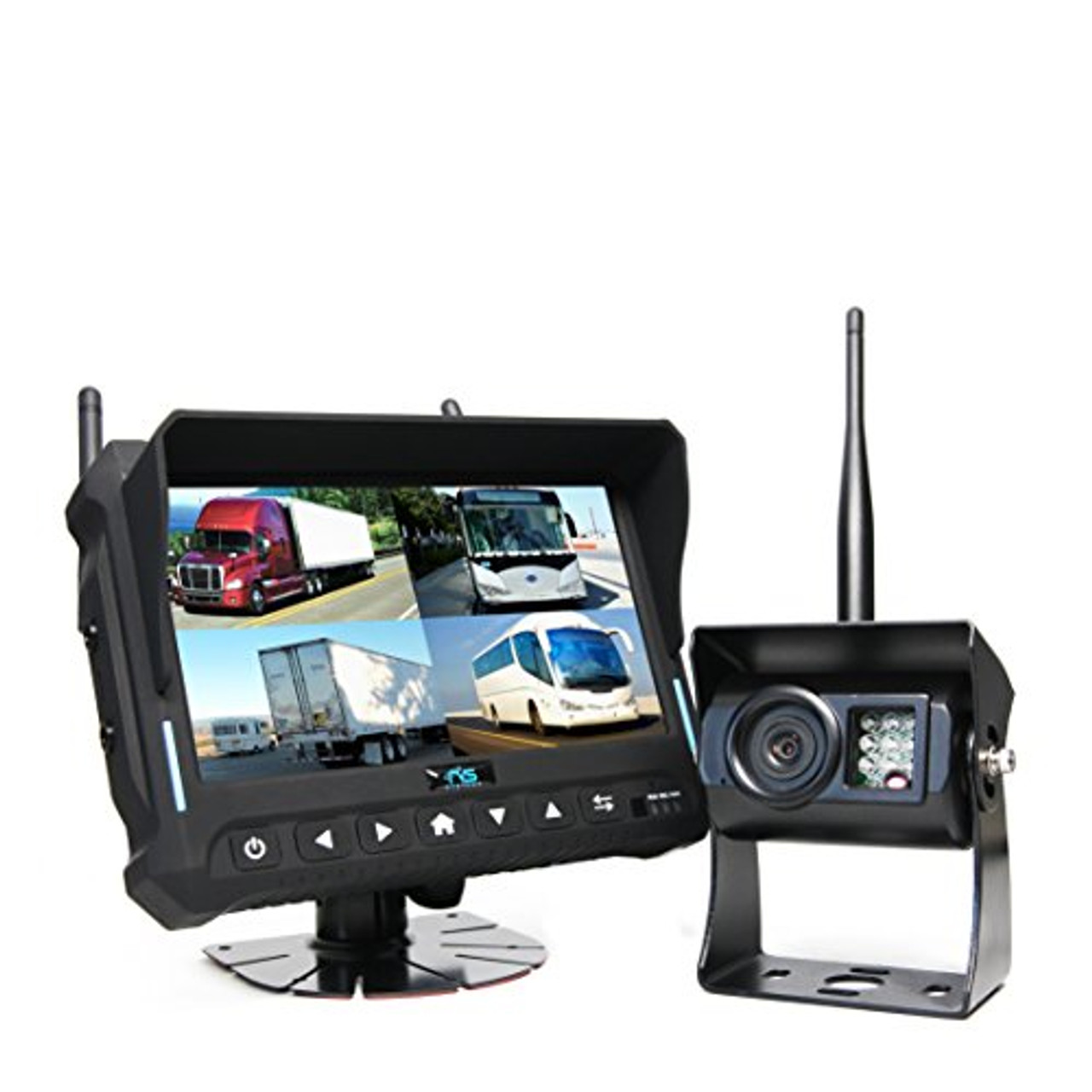 "Rear View Safety Wireless Backup Camera System with 7"" Quad View Display and Built-in DVR RVS-4CAM 