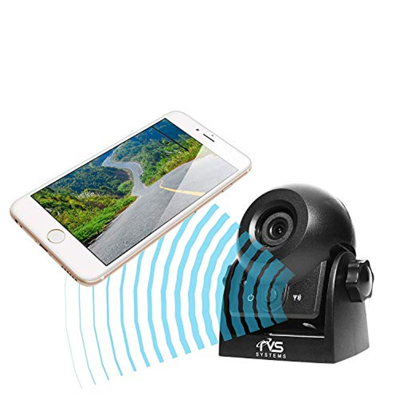 RVS WiFi Hitch Camera for Hitching Trailers, Travel Trailers and Fifth Wheels RVS-83112-WiFi by Rear View Safety | 0211XKUSJUN