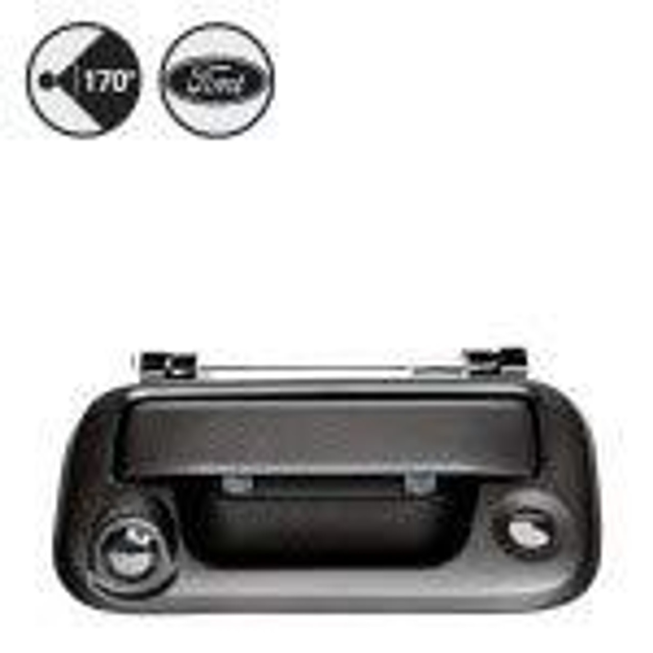 2015+ Ford F150 Tailgate Handle Backup Camera, RCA Adapter