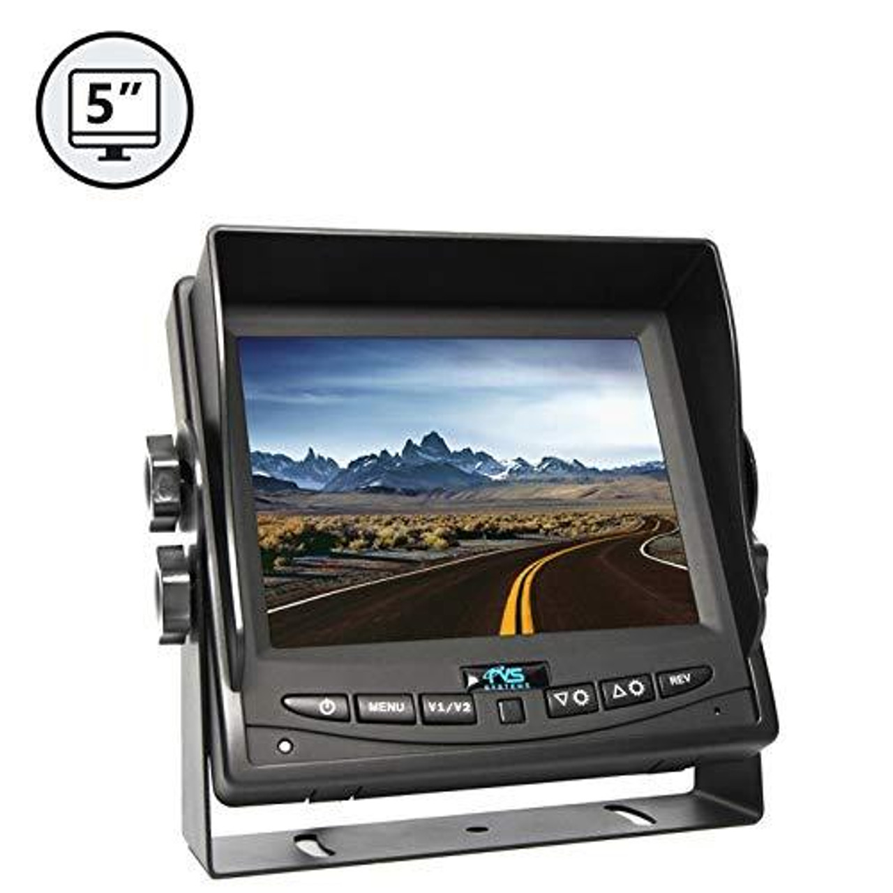 "5"" LED Digital Color Rear View Monitor (with Power Harness)"