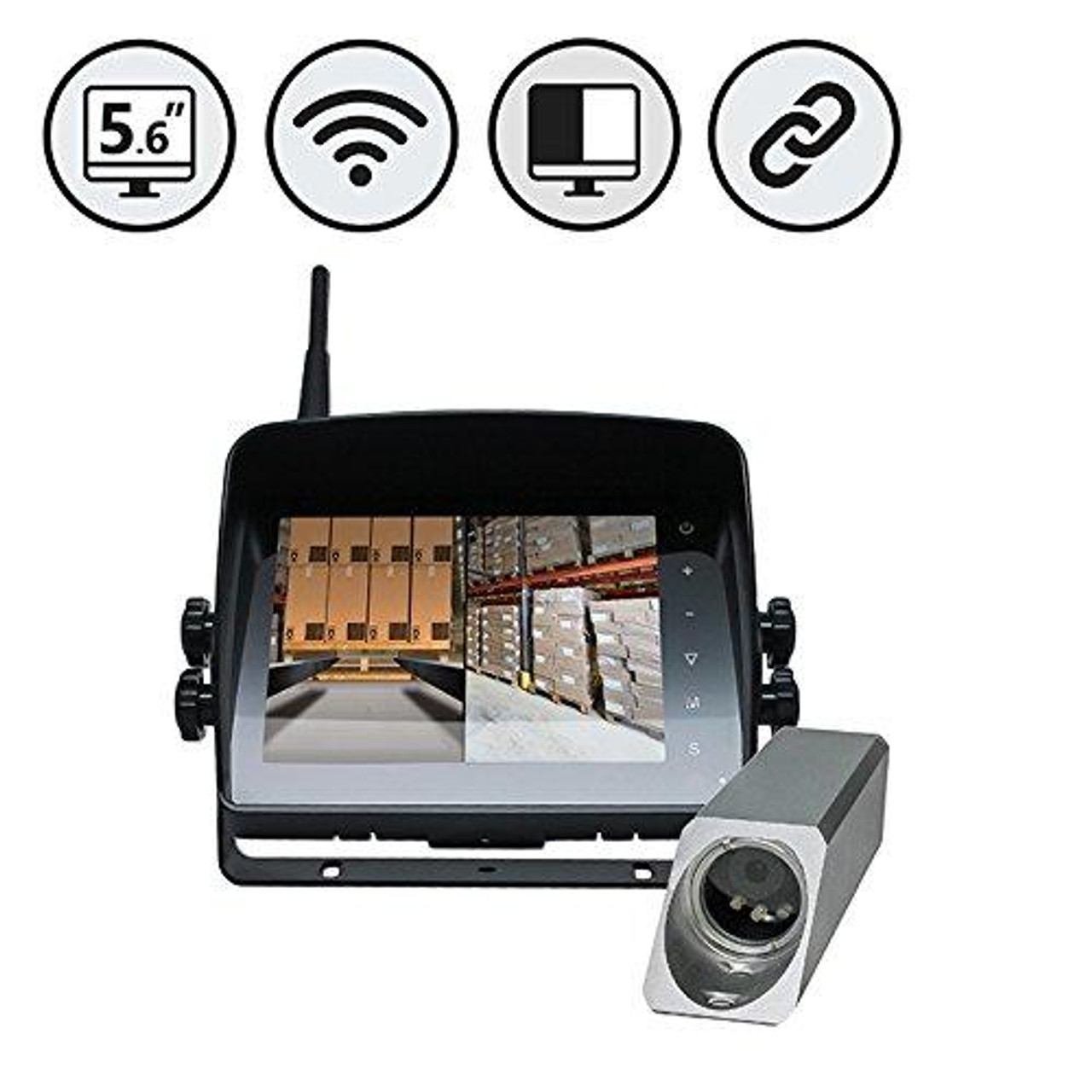 "5.6"" Wireless Monitor, Wireless Forklift Camera"