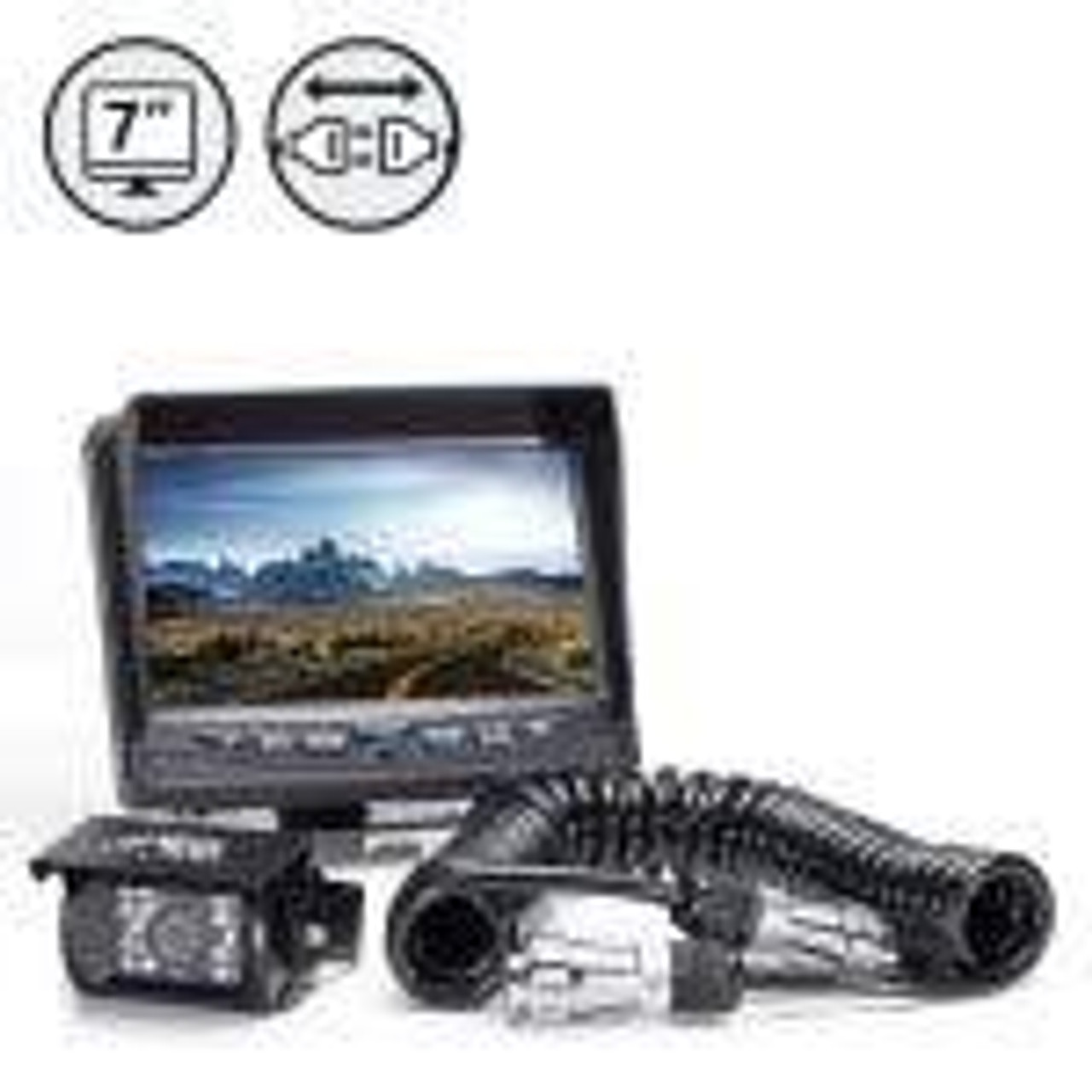 """7"""" Display, 1 x Backup Camera, Trailer Tow Quick Connect Kit"""