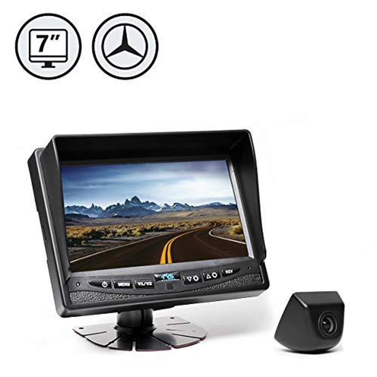 "7"" Display, Backup Camera, Multiplexer Box, 33' Cable"