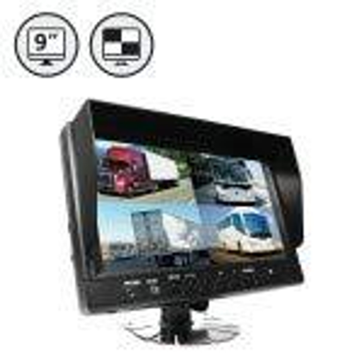 "7"" LED Digital Quad View Color Monitor (12V)"