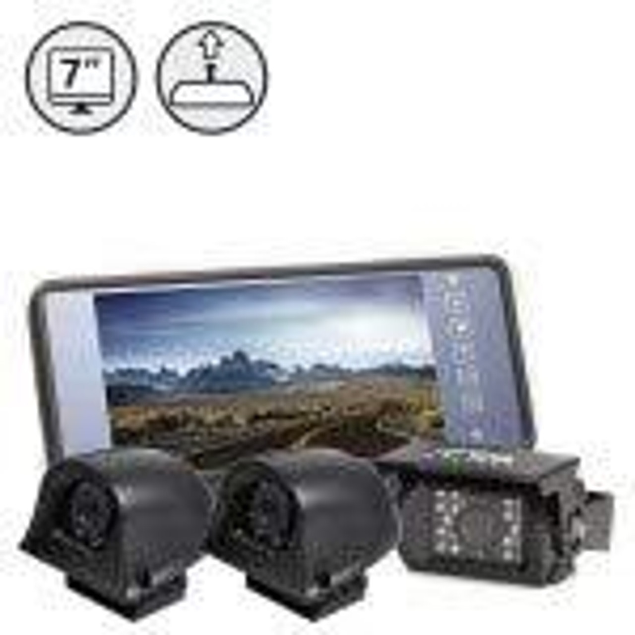 """Backup Camera System with 7"""" Mirror Monitor (RVS-770619-NM)"""