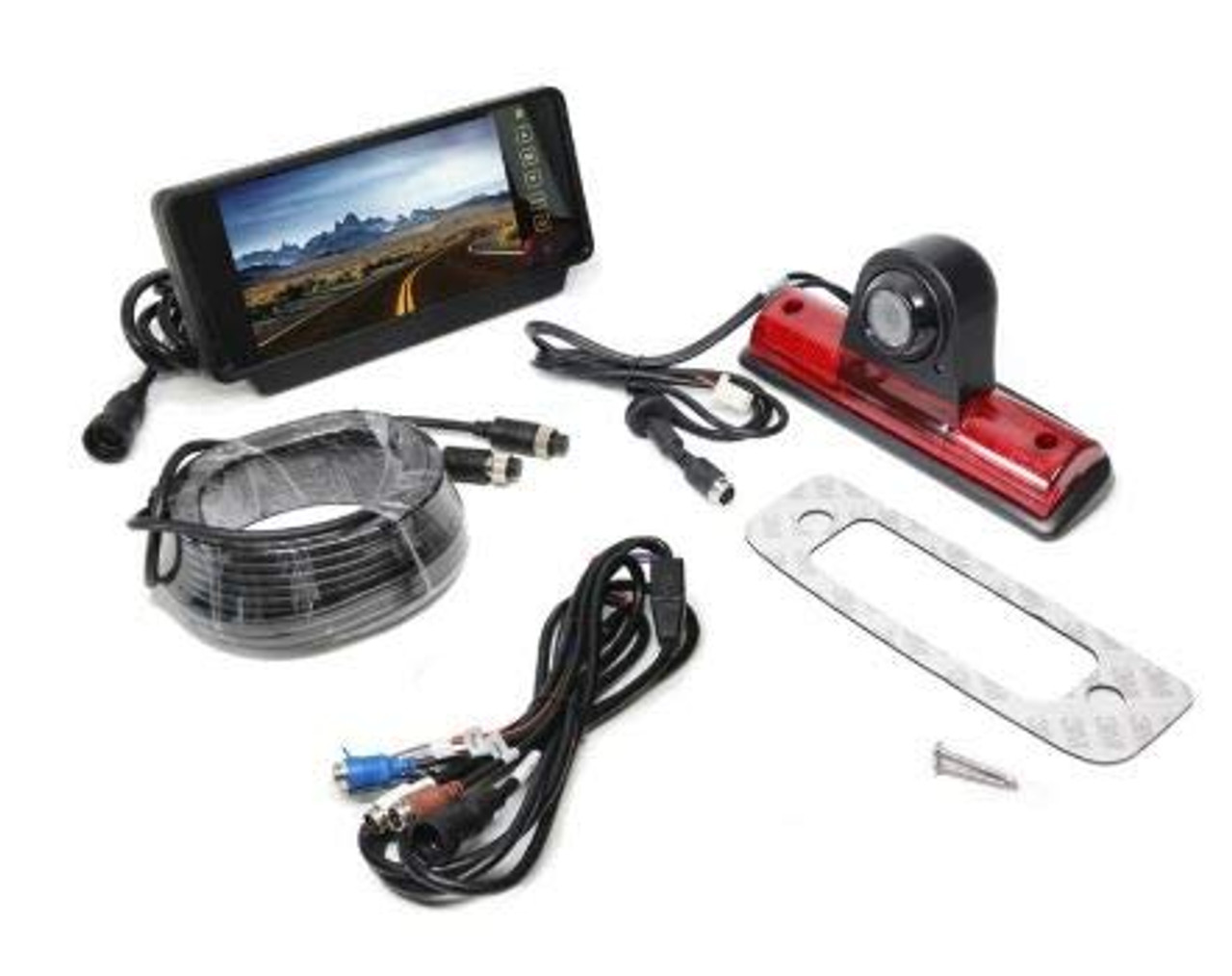 Backup Camera System for Nissan NV Vans, Clip-on Mirror Monitor