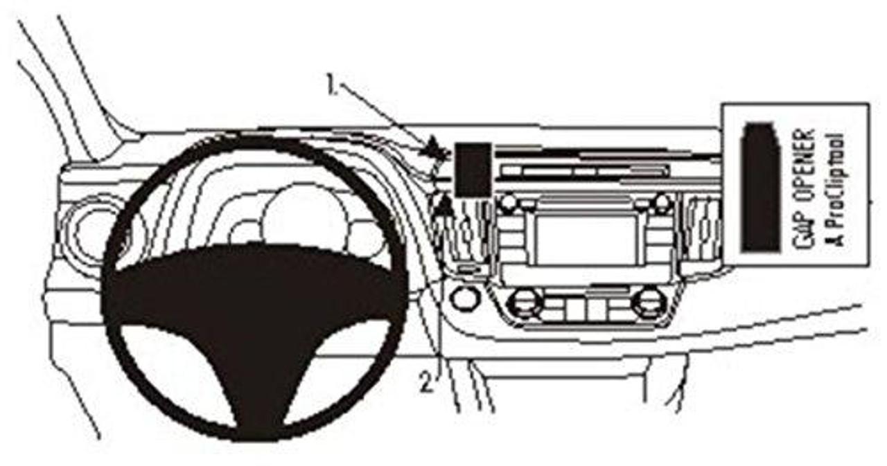 Brodit ProClip Console Mounting Bracket for Toyota RAV  | CMO Inc