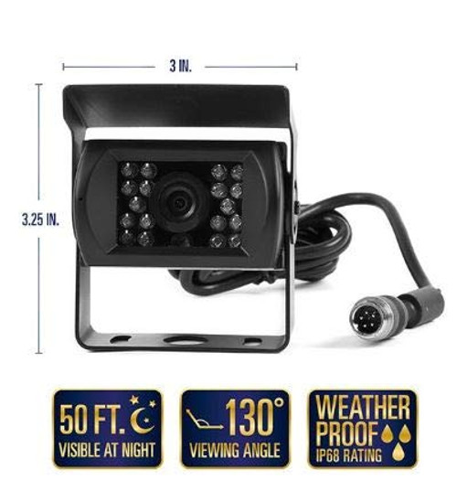 130° Backup Camera with 18 Infra-RED ILLUMINATORS (RCA CONNECTORS) (RVS-771)
