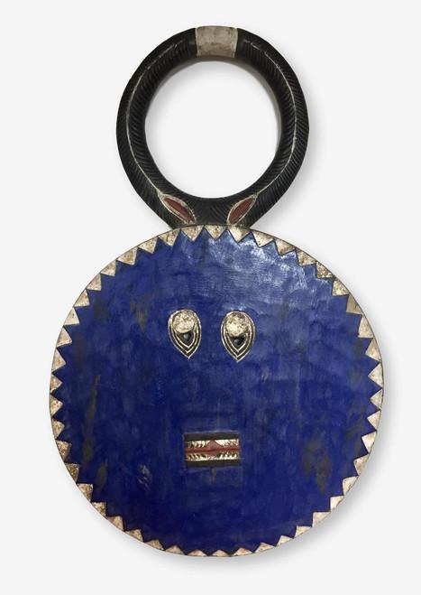 Baule Mask or Goli Mask Large Blue, Ivory Coast