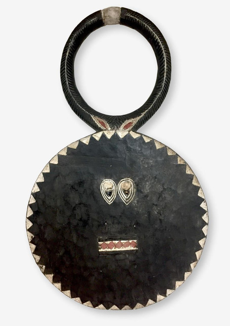 Baule Mask or Goli Mask Large Black, Ivory Coast