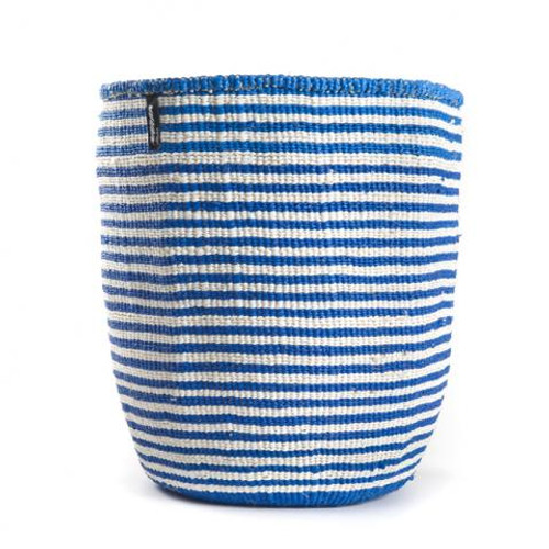 Mifuko Kiondo Basket Blue Small Stripe Medium, Kenya