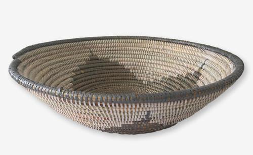 Wolof Basket Bowl Large Silver, Senegal