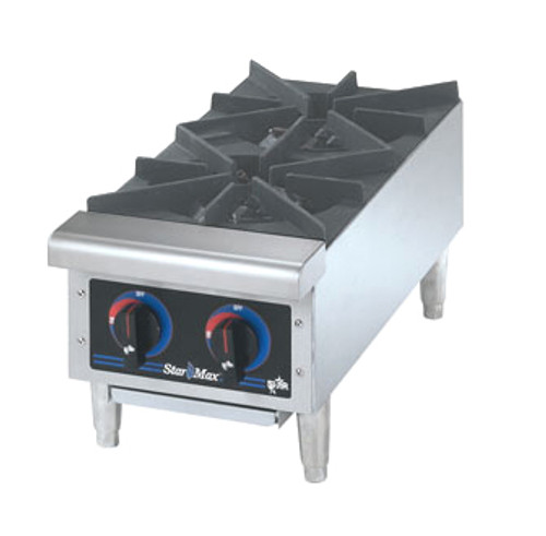 STAR 12in WIDE 2 BURNER HOTPLATE - GAS