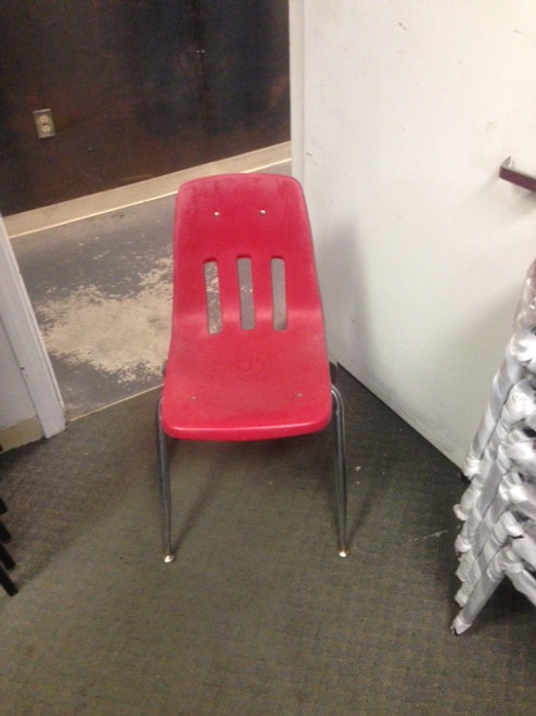 STACKABLE RED CHAIR