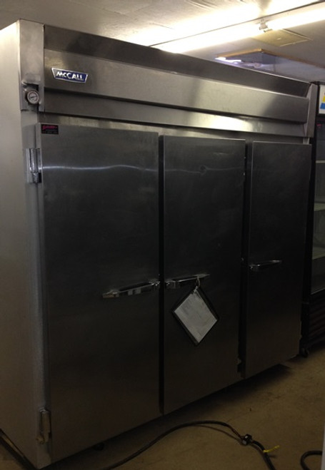MCCALL 3 DOOR REACH IN FREEZER