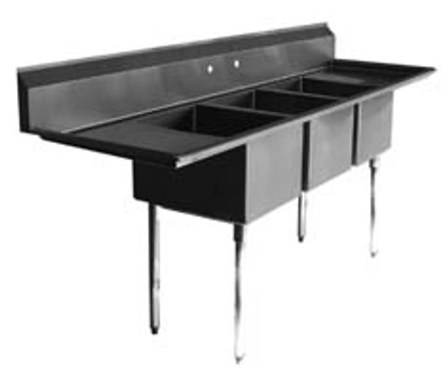 NEW 3 BAY SINK NSF