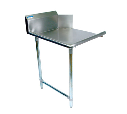 "NEW-Clean Dishtable, straight design, 26""W x 30-7/8""D x 46-1/4""H, comes in right or left operation, 18/304 stainless steel top, 10""H backsplash, raised rolled edge on front & side, galvanized steel legs & side bracing, adjustable high-impact corrosion-resistant feet, NSF"