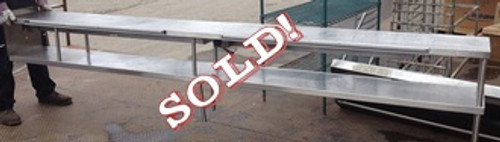 "USED-Double overshelf, heat lamp on underside of top shelf, ticket rail on side on top shelf, 133""L x 14""D x 15""H, stainless steel"