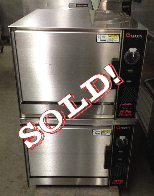"""HY-3E HyperSteamƒ?› Convection Steamer, electric, double-stacked, table top, (3) 12"""" x 20"""" x 2-1/2"""" deep pans per compartment capacity, stainless steel construction, dual water connection"""