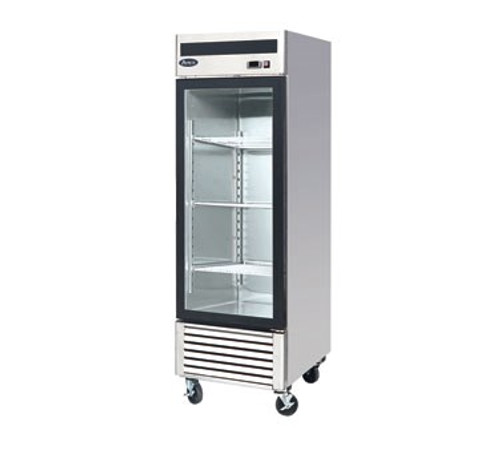 Freezer Merchandiser, one-section, self-contained refrigeration, 21.0 cu. ft. capacity, -8?ø to -0?øF temperature range, (1) locking hinged glass door, (4) adjustable shelves, ventilated refrigeration, LED interior lighting, automatic evaporation, digital temperature control, electric defrost, stainless steel interior & exterior, galvanized steel back, bottom mounted refrigeration, 650 watts, 115v/60/1-ph, 7.6 amps, 1/2 HP, cETLus, ETL, CE, ENERGY STAR??