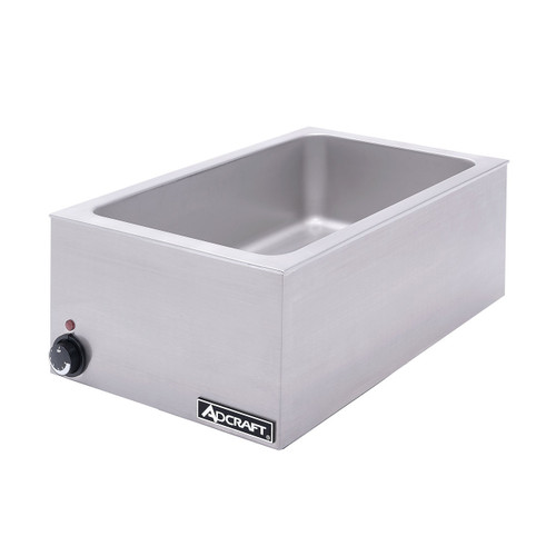 """Countertop Warmer, accepts a 12"""" x 20"""" full size pan or fractional size pans, adjustable thermostat, cycling indicator pilot light, stainless steel construction, 1200 watts, NEMA 5-15P, 120v/60/1ph, 10 amps, cETLus, NSF"""