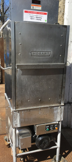HOBART AM14F Pot/Pan/Utensil Washer, front loading with split door design, (10) pan capacity, over/under rotating arms, 2/4/6 minute adjustable timer, up to (20) racks/hour, includes: (1) flat grid, (1) tray rack & (1) flat bottom rack, stainless steel construction, 208-240v/60/3-ph, cULus, NSF,