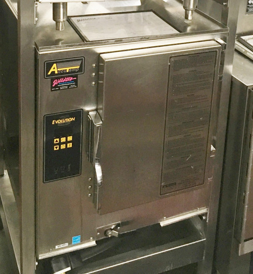 """ACCUTEMP E62083D170 Connectionless Evolutionƒ?› Boilerless, Convection Steamer featuring Steam Vector Technology, counter top, electric, holds (6) 12""""x 20""""x 2-1/2"""" deep pans, Digital Controls, NO water and drain connection required, warranty NOT voided by water quality, NO water filtration required, 15kw, 208/60/3ph, 5' cord & NEMA 15-50P, ENERGY STAR??."""