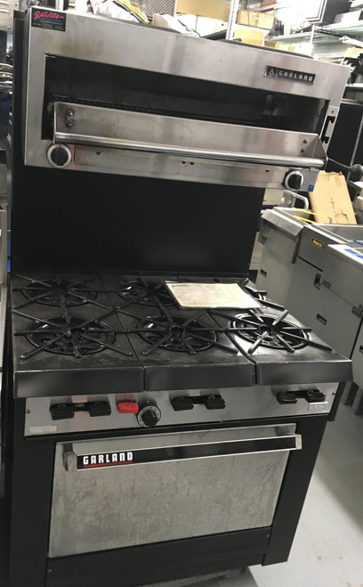GARLAND G286 6 BURNER RANGE WITH SALAMANDER BROILER
