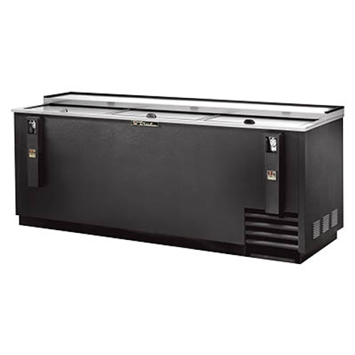 Bottle Cooler, flat top, (30cs) 12oz bottles or (42cs) 12oz can capacity, stainless steel counter top & (3) lids, barrel locks standard, well design, galvanized interior, black vinyl exterior, (6) PVC coated adjustable bin dividers, removable bottle cap opener & cap catcher, 1/3 HP, 115v/60/1, 8.7 amps, NEMA 5-15P, UL, CSA, UL EPH Classified, MADE IN USA