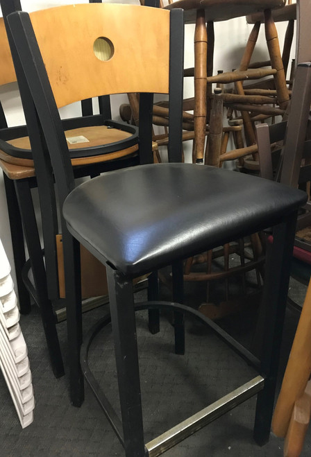 bar stool, bar stool with porthole, bar stool wooden, wooden bar stool, bar stool w porthole, clean bar stool